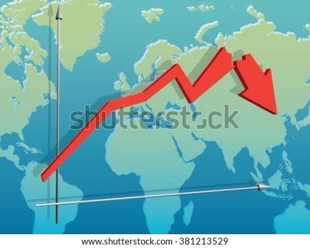 Collapse - stock vector