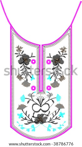 collar embroidery