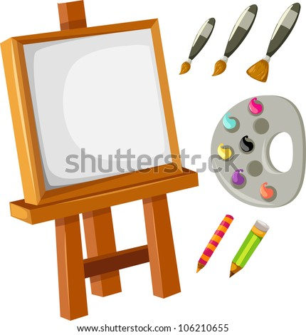 Collection Artist's Canvas - stock vector