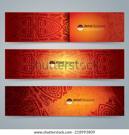 Collection banner design, African art background, vector illustration. - stock vector