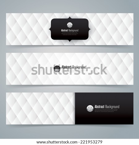 Collection banner design, Black and white upholstery background, vector illustration. - stock vector
