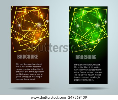Collection banner design, vector background. Illustration eps10 - stock vector