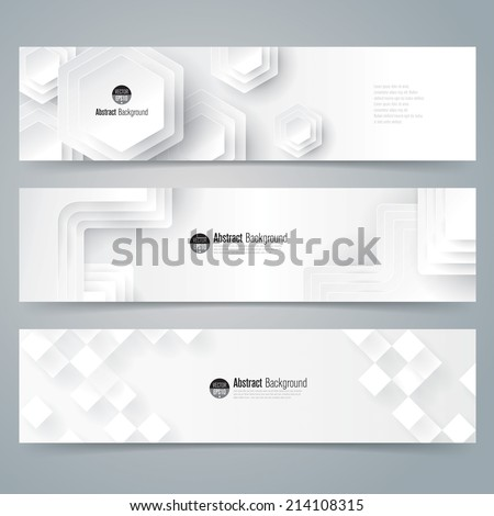 Collection banner design, white background, vector illustration. - stock vector