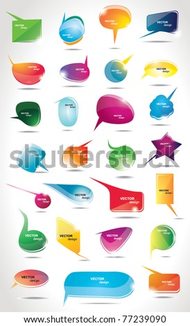 Collection bubbles for speech - stock vector