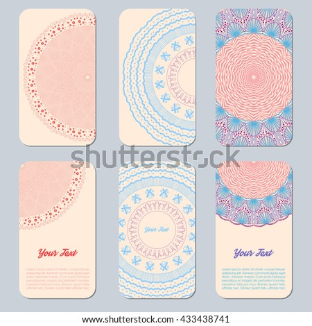 Collection business card invitation vector background stock vector collection business card or invitation vector background vintage decorative elements childs stopboris Choice Image