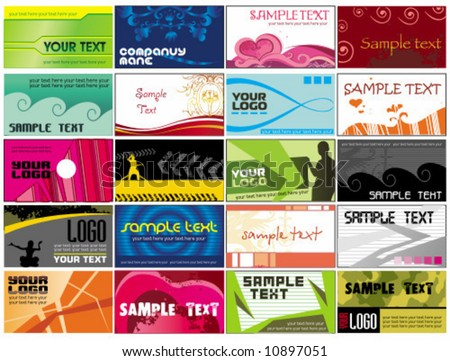 Collection business cards  templates 3. To see similar, please VISIT MY GALLERY.