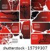 collection businnes card - stock vector