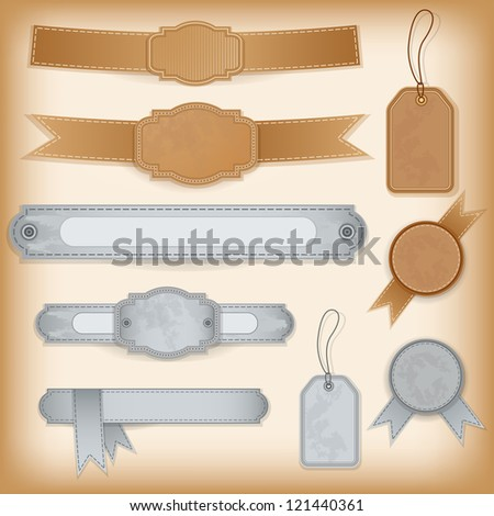 Collection design elements. Labels. Vector. - stock vector