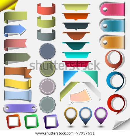 Collection different web elements. Vector eps10 - stock vector