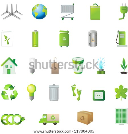 Collection Eco Design Elements, Isolated On White Background - Vector illustration. Logo Symbol - stock vector