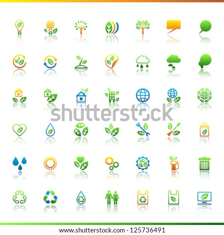 Collection eco web icons. - stock vector