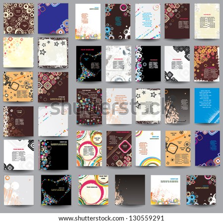 Collection flyers and posters - stock vector
