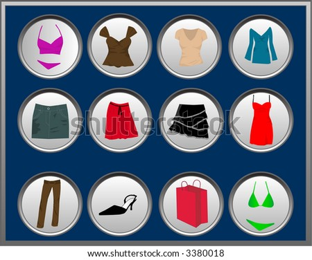 Collection For a Women - stock vector