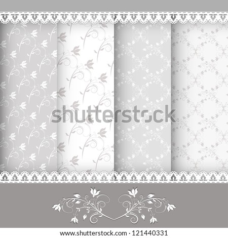 Collection for scrapbook. Patterns. EPS 10. Vector illustration. - stock vector