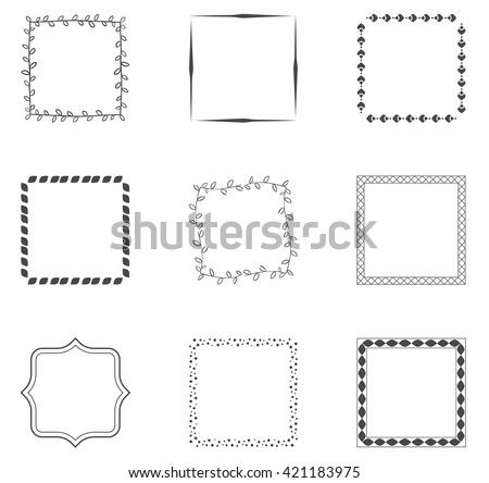 Collection od decorative frames