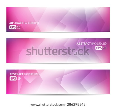Collection of abstract banners for web or print. - stock vector