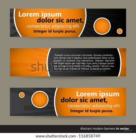 Collection of abstract horizontal bubble banners, vector, EPS 10 - stock vector