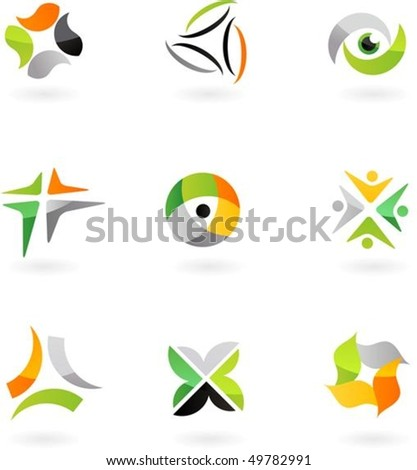 collection of abstract icons - 8. - stock vector