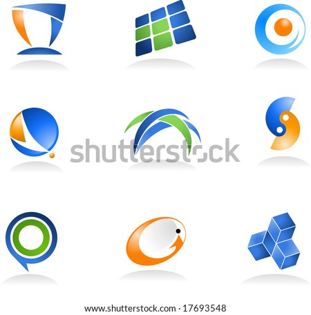 collection of abstract icons - for additional works of this kind, please VISIT MY GALLERY - stock vector