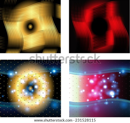 Collection of abstract multicolored backgrounds - stock vector