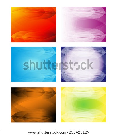 Collection of abstract multicolored backgrounds. Eps 10 vector design - stock vector