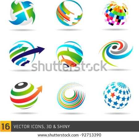 Collection Of Abstract Vector Symbols Isolated On White Background. Graphic Design Editable For Your Design.