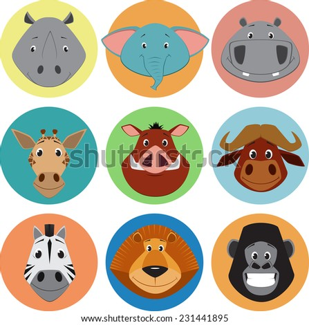 Collection of animals - stock vector