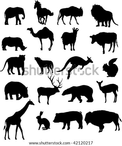 Collection of animals silhouettes