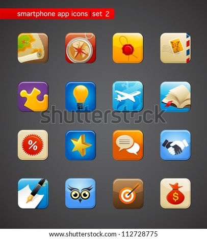 collection of apps icons - stock vector