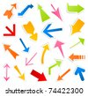 Collection of arrows for web design. A vector illustration - stock vector