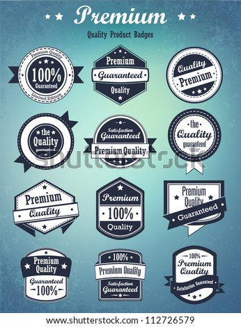 Collection of badges. Vector - stock vector