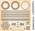 collection of beautiful vintage elements for design - stock vector