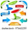 Collection of bookmarks and labels - stock vector