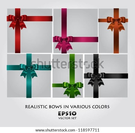 Collection of bows - stock vector