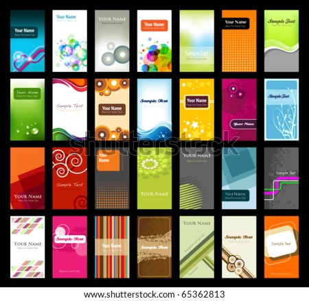 Collection of Business Cards - stock vector