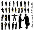 collection of business vector - stock photo