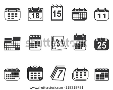 collection of calendar icons - stock vector