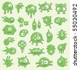 collection of cartoon germs - stock vector