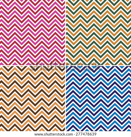 Collection of chevron patterns