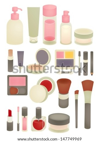 Collection of Chic makeup Icon - Vector File EPS10 - stock vector