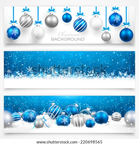 Collection of Christmas banners. Vector - stock vector