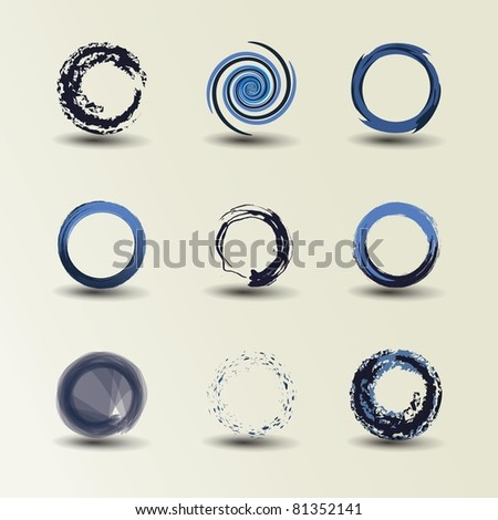 Collection Of Circle Design - stock vector