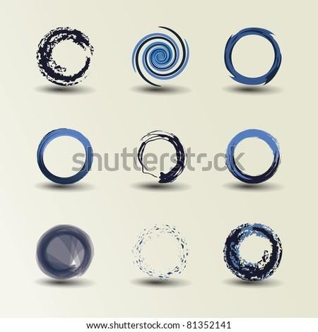 Collection Of Circle Design - stock vector