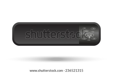 collection of cloud storage  black button for a site, vector - stock vector