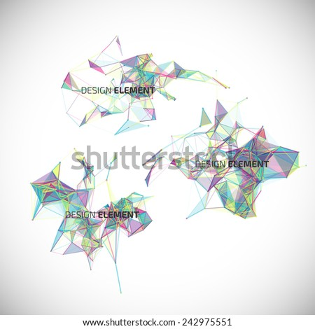 Collection of colorful abstract geometric backgrounds. Vector design elements. - stock vector