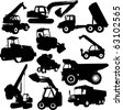 collection of construction machine - vector - stock photo