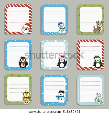 Collection of cute frames. Christmas theme.