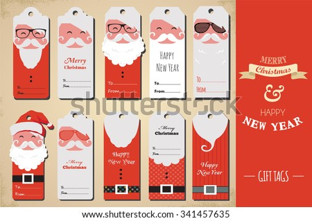 Christmas tag stock images royalty free images vectors collection of cute ready to use christmas gift tags negle Image collections