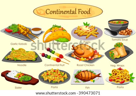 Continental food menu images for About continental cuisine