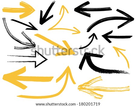 Collection of different arrows - stock vector